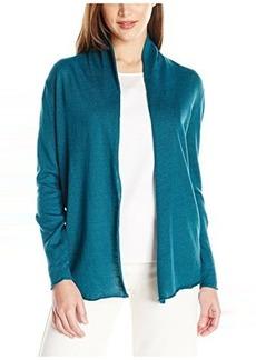 Lafayette 148 New York Women's Long Sleeve Open Shawl Collar Cardigan
