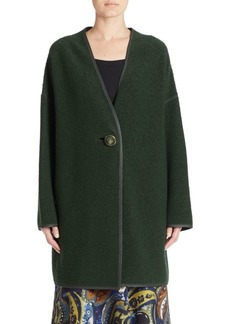 Lafayette 148 Wool-Blend One-Buttoned Coat