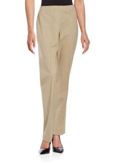 Lafayette 148 New York Wool Blend Straight-Leg Pants