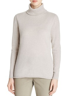 Lafayette 148 New York Wool-Cashmere Turtleneck Sweater