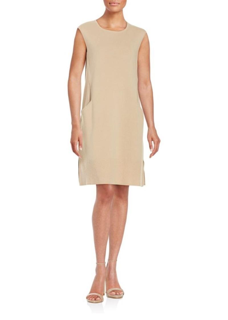 Lafayette 148 New York Wool Flannel A-Line Dress