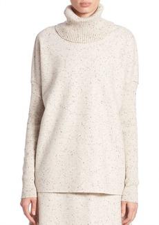 Lafayette 148 New York Wool Jersey Turtleneck Sweatshirt