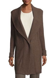 Lafayette 148 New York Wool Ribbed Cardigan