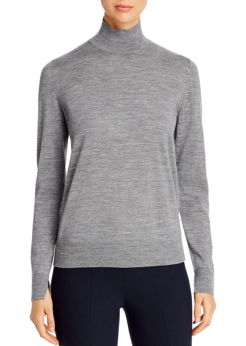 Lafayette 148 New York Wool Stand Collar Sweater