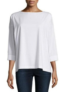 Lafayette 148 New York Woven 3/4-Sleeve Top