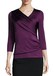 Lafayette 148 New York Wrap-Detail Asymmetric Top