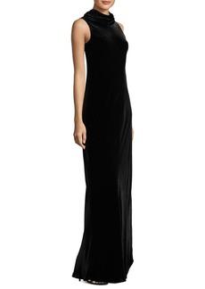 Lafayette 148 New York Yana Tie-Back Velvet Gown
