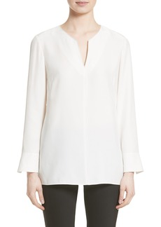Lafayette 148 New York York Matte Silk Blouse (Nordstrom Exclusive)