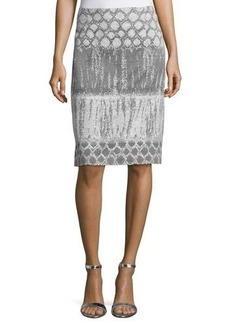 Lafayette 148 New York Yvette Printed Wool Skirt