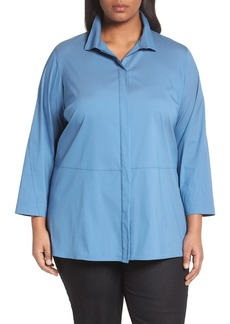 Lafayette 148 New York Zander Blouse (Plus Size)