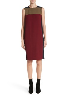 Lafayette 148 New York Zandra Colorblock Nouveau Crepe Dress