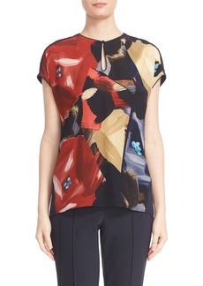 Lafayette 148 New York 'Zane' Short Dolman Sleeve Silk Blouse