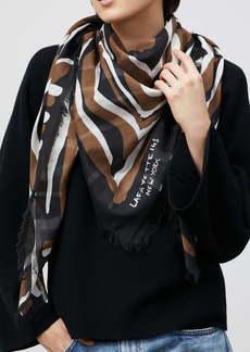 Lafayette 148 New York Zebra Print Cotton & Silk Scarf