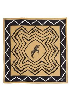 Lafayette 148 New York Zebra Print Silk Twill Scarf