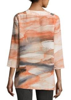 Lafayette 148 New York Zelah 3/4-Sleeve Silk Blouse