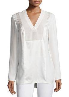 Lafayette 148 New York Zelah Long-Sleeve Silk Combo Blouse