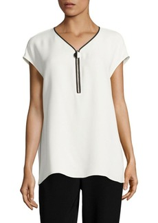 Lafayette 148 New York Zelia Silk Double Georgette Blouse