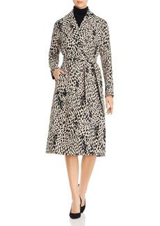 Lafayette 148 New York Zelida Linen Animal Print Coat