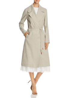 Lafayette 148 New York Zelida Rope-Belt Trench Coat