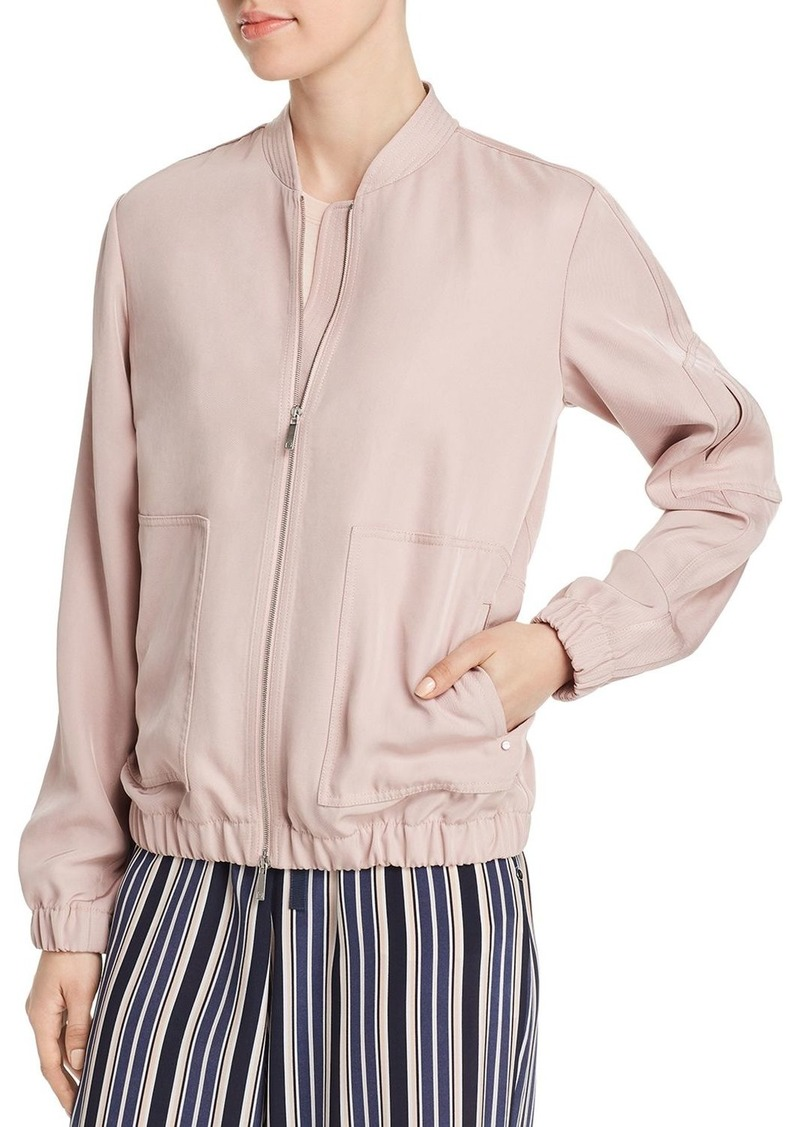 Lafayette 148 New York Ziggy Sateen Bomber Jacket