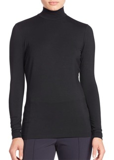 Lafayette 148 New York Zip Detail Mockneck Top