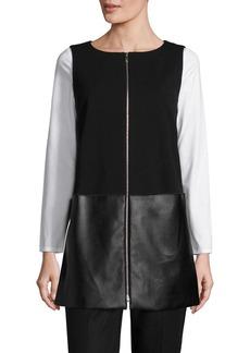 Lafayette 148 New York Zip-Front Neo Tech Vest