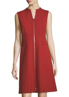 Lafayette 148 New York Zip-Front Sheath Dress