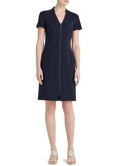 Lafayette 148 New York Zip Front Sheath Dress