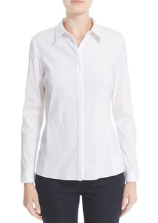 Lafayette 148 New York Side Panel Blouse