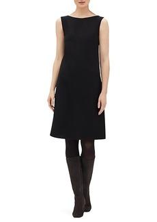 Lafayette 148 Laflora Sleeveless Wool A-Line Dress