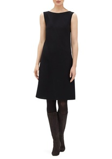 Lafayette 148 Laflora Sleeveless Wool A-Line Dress