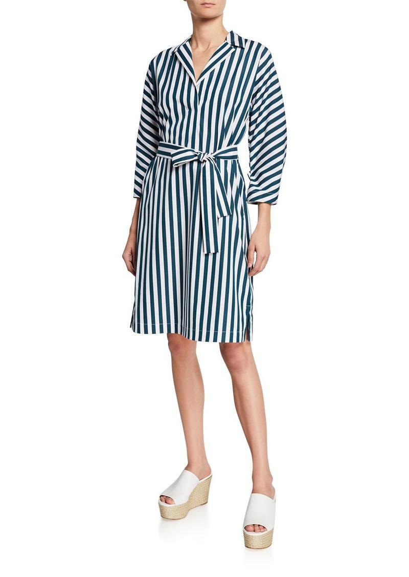 Lafayette 148 Laticia Striped Shift Self-Tie Dress