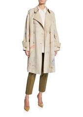 Lafayette 148 Laurita Modern Muse Linen Trench Coat