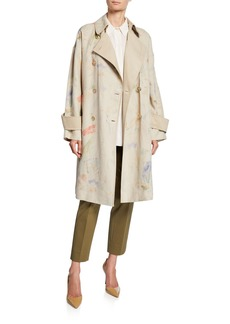 Lafayette 148 Laurita Modern Muse Linen Trench Coat