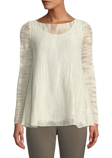 Lafayette 148 Layered Sweater W/ Georgette Tank