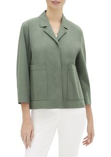 Lafayette 148 Layken 3/4-Sleeve Italian Pima Cotton Bi-Stretch Jacket