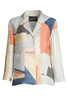 Lafayette 148 Layken Geo-Print Linen Jacket