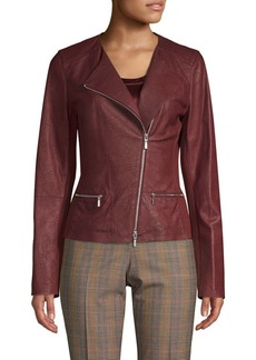 Lafayette 148 Leather Moto Jacket