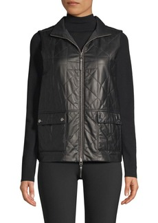 Lafayette 148 Leather Quilted Vest