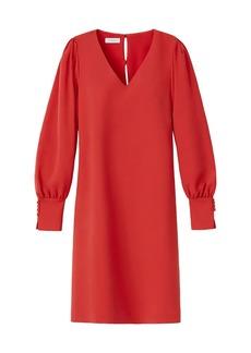Lafayette 148 Lenore Puff-Sleeve Shift Dress