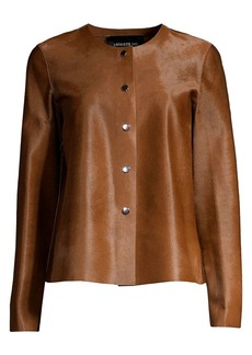 Lafayette 148 Leo Collarless Calf Hair Jacket