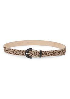 Lafayette 148 Leopard Calf Hair Leather Belt