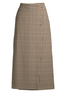 Lafayette 148 Leyla Heritage Plaid Wrap Skirt