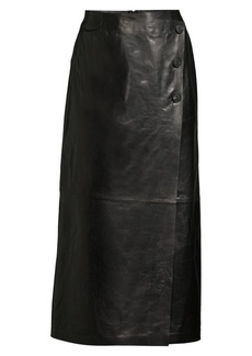 Lafayette 148 Leyla Leather Skirt