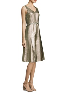 Lafayette 148 Lois Metallic A-Line Dress