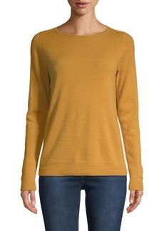 Lafayette 148 Long-Sleeve Cashmere Sweater