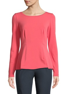 Long-Sleeve Fit & Flare Tee