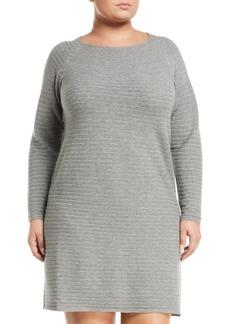 Lafayette 148 Long-Sleeve Ribbed Wool Dress