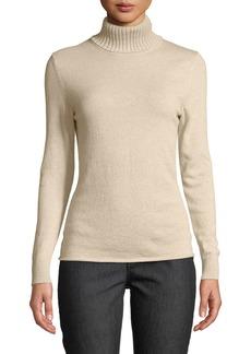 Lafayette 148 Lotus Cashmere Turtleneck Sweater