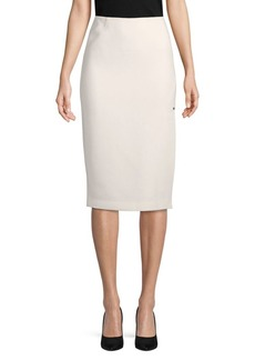 Lafayette 148 Lucina Wool Knee-Length Skirt